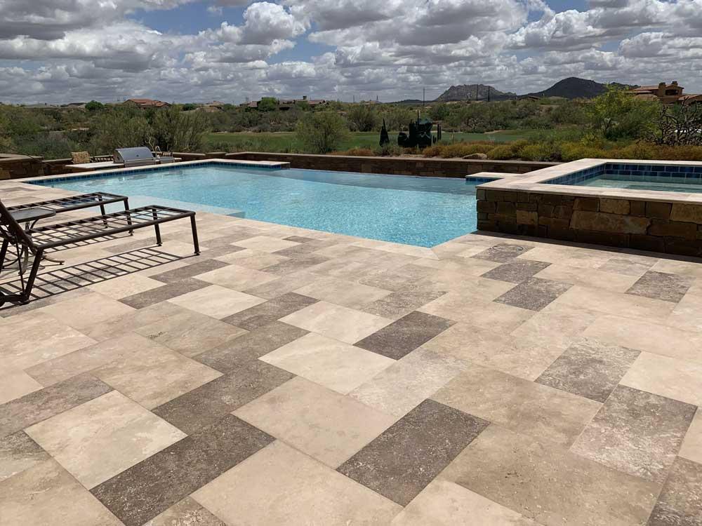 Durango Stone Mocha Travertine Pool Deck